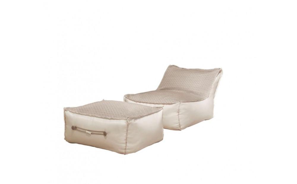 Cocotte Chill Sessel mit Hocker für den Aussenbereich mit abnehmbaren Bezug