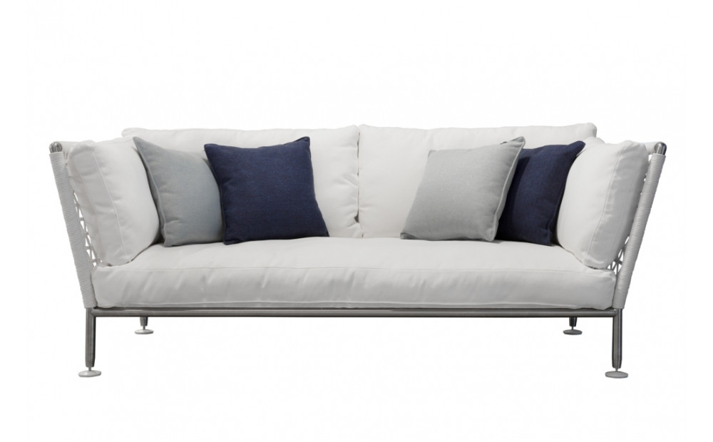 Coro Nest 75 Sofa 2100 x 1075 x 790 mm mit Stabrücken abnehmbarer Stoffbezug Rahmen Edelstahl satiniert