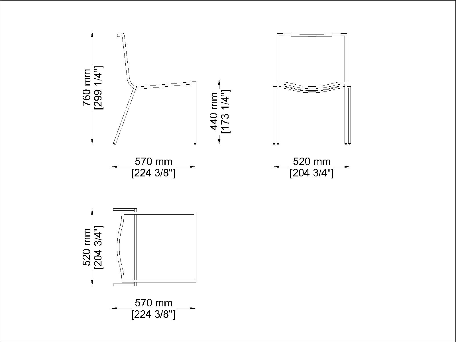Coro SG1 S Stuhl Polyurethan-Lamellen Rahmen Edelstahl satiniert stapelbar