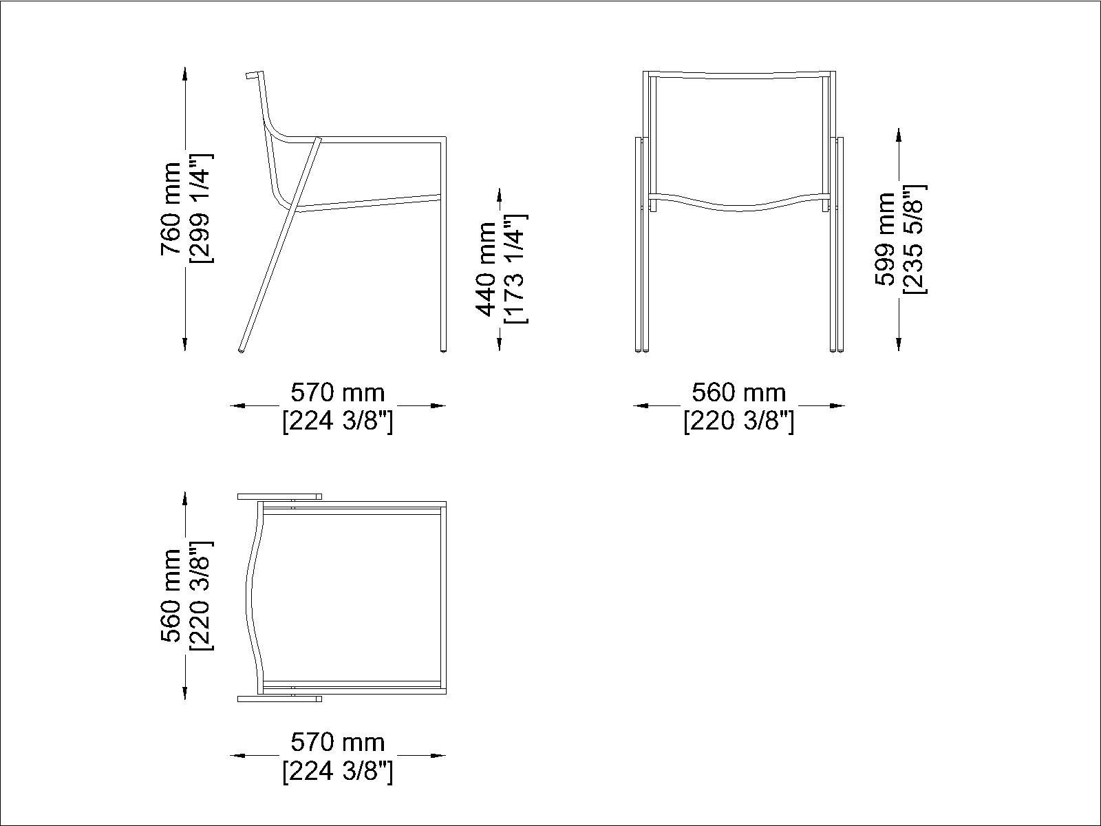 Coro SG1 SB Stuhl Polyurethan-Lamellen Rahmen Edelstahl satiniert stapelbar
