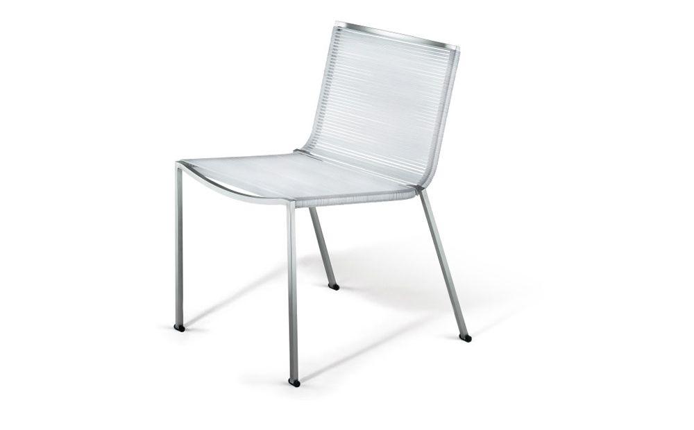 Coro SG1 S Stuhl PVC Geflecht 3 oder Acryl 6 mm Rahmen Edelstahl satiniert stapelbar
