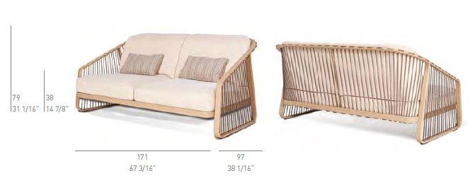 CORO Sally Outdoor Sofa 1700 x 970 mm
