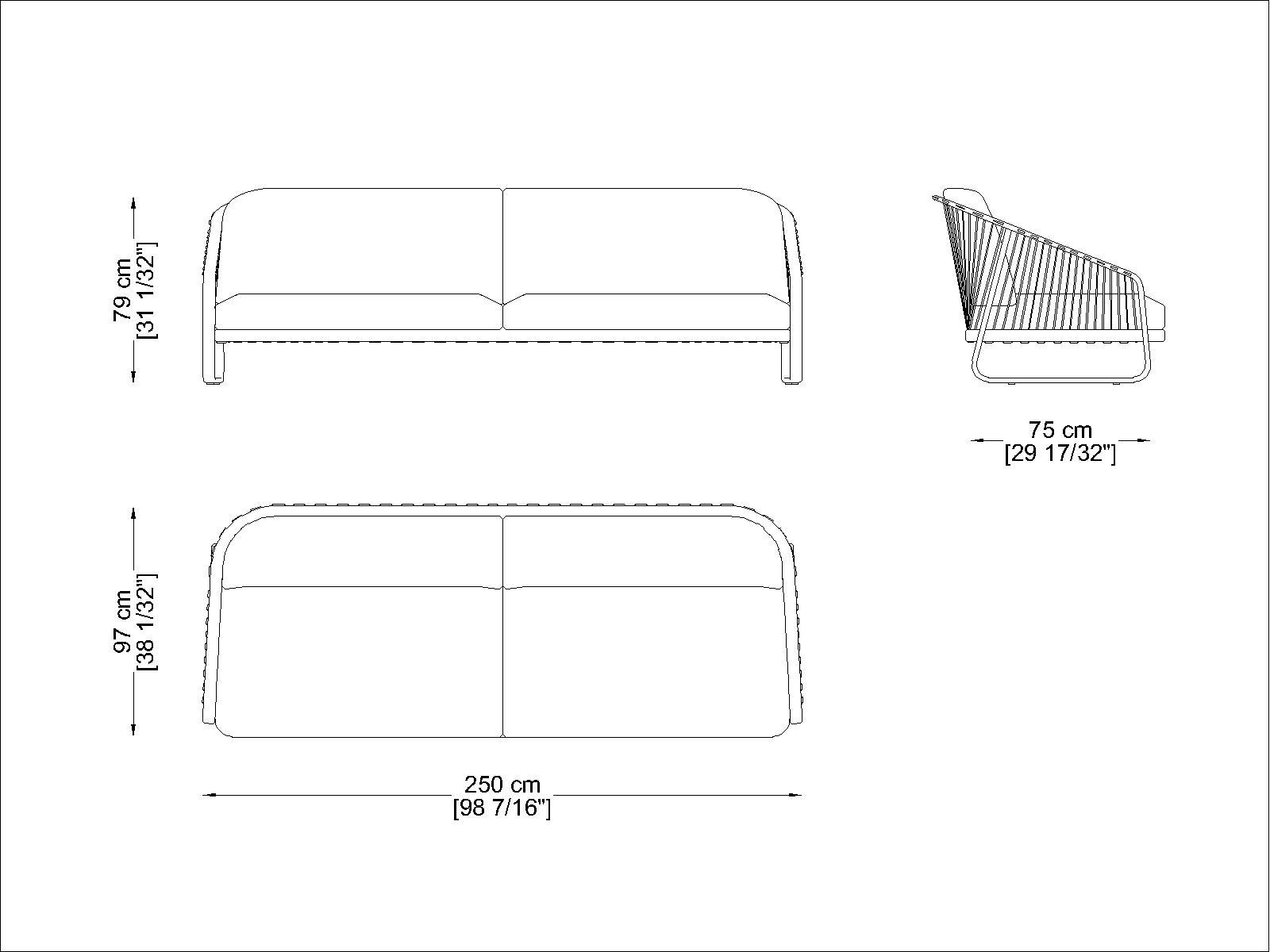 CORO Sally Outdoor Sofa 2500 x 970 mm