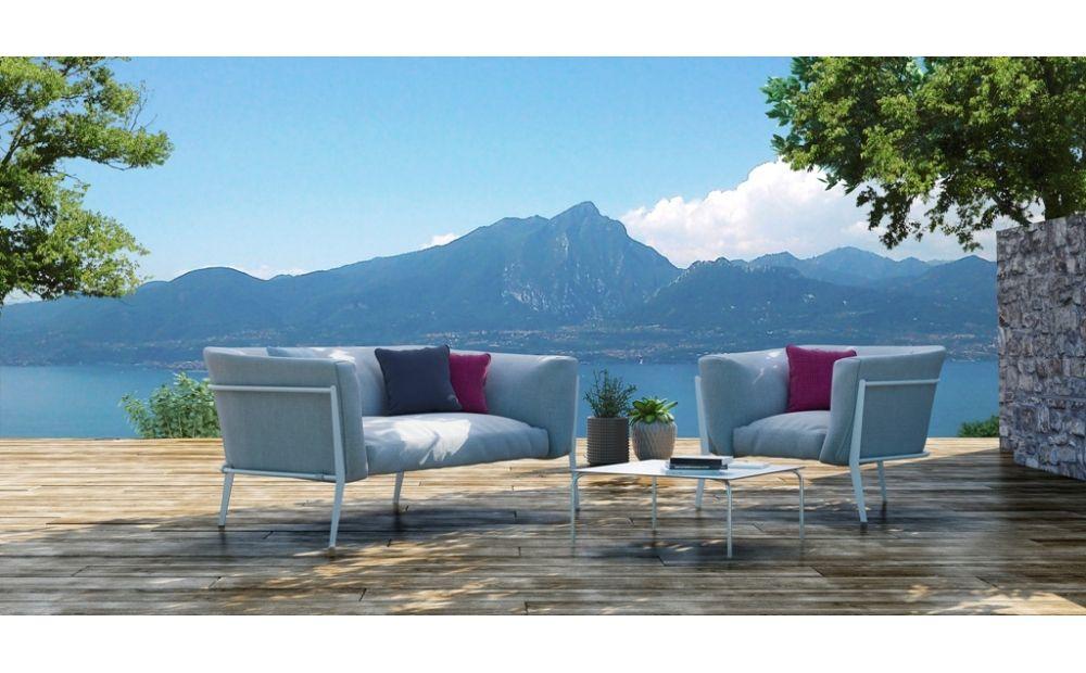 Coro Clea Sofa 1700 x 900 x 630 mm Rahmen Edelstahl beschichtet