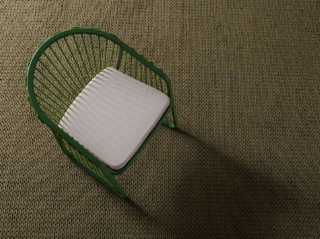 Design Outdoor Teppich handgeknüpft rechteckig in grün