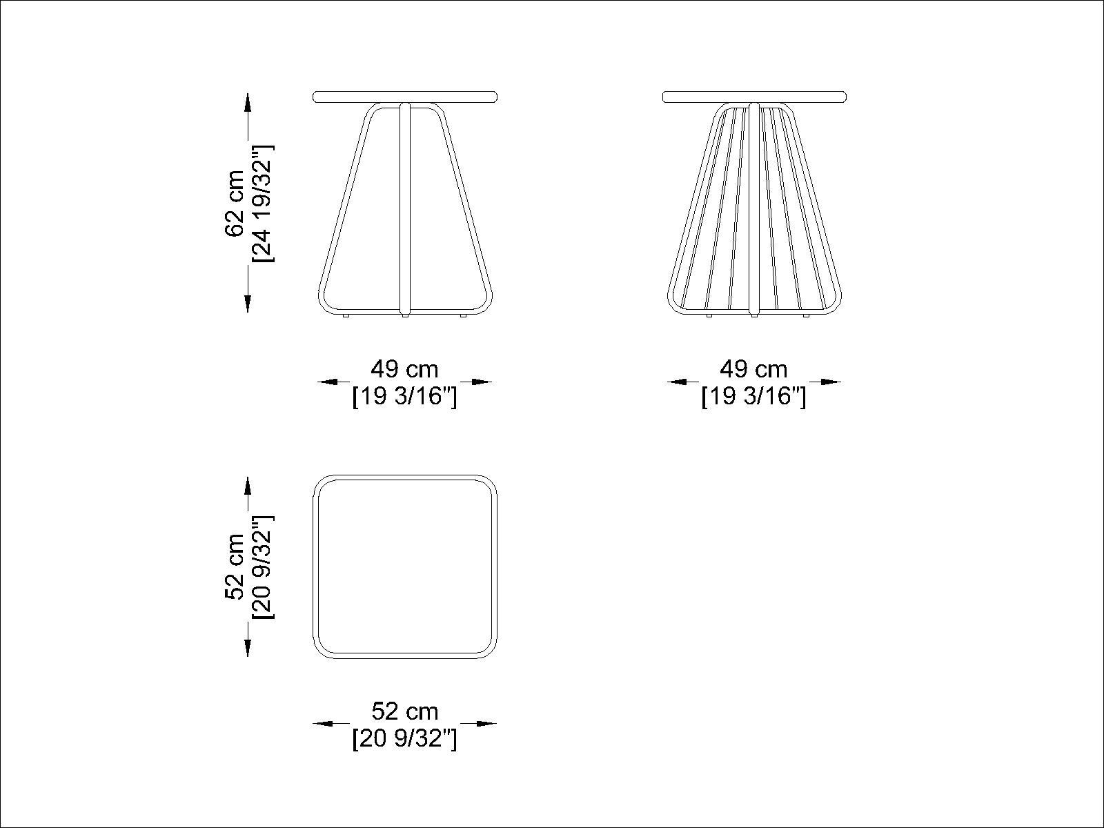 CORO Sally Beistelltisch quadratisch 515 x 515 x H 625 mm