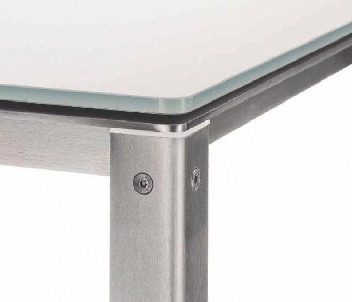Coro Shot Esstisch rechteckig 2100 x 900 x 730 mm Rahmen Edelstahl satiniert