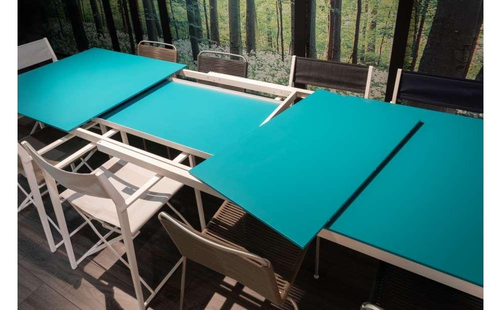 Coro Tasia Outdoor Tisch ausziehbar 1400 - 2000 x 800 x 730 mm Rahmen Edelstahl weiss