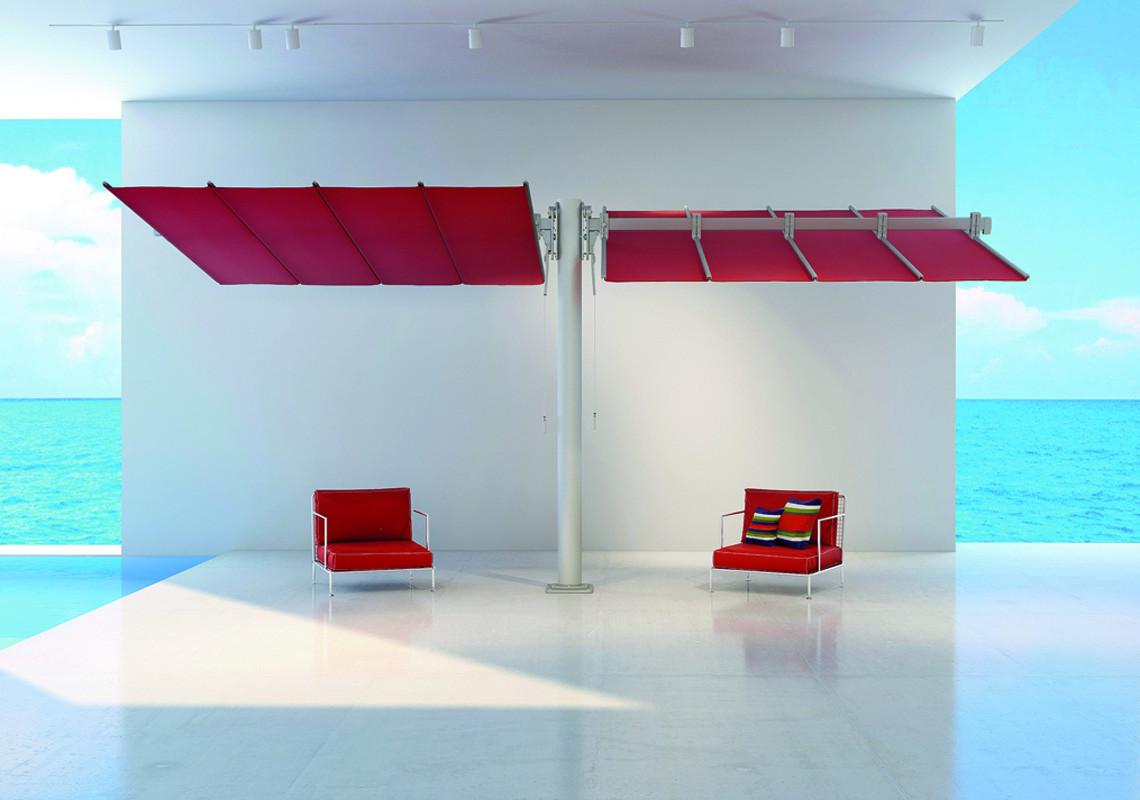 Sonnenfächer Flexy Twin rechteckig 250 x 426 cm mit Kurbelbedienung