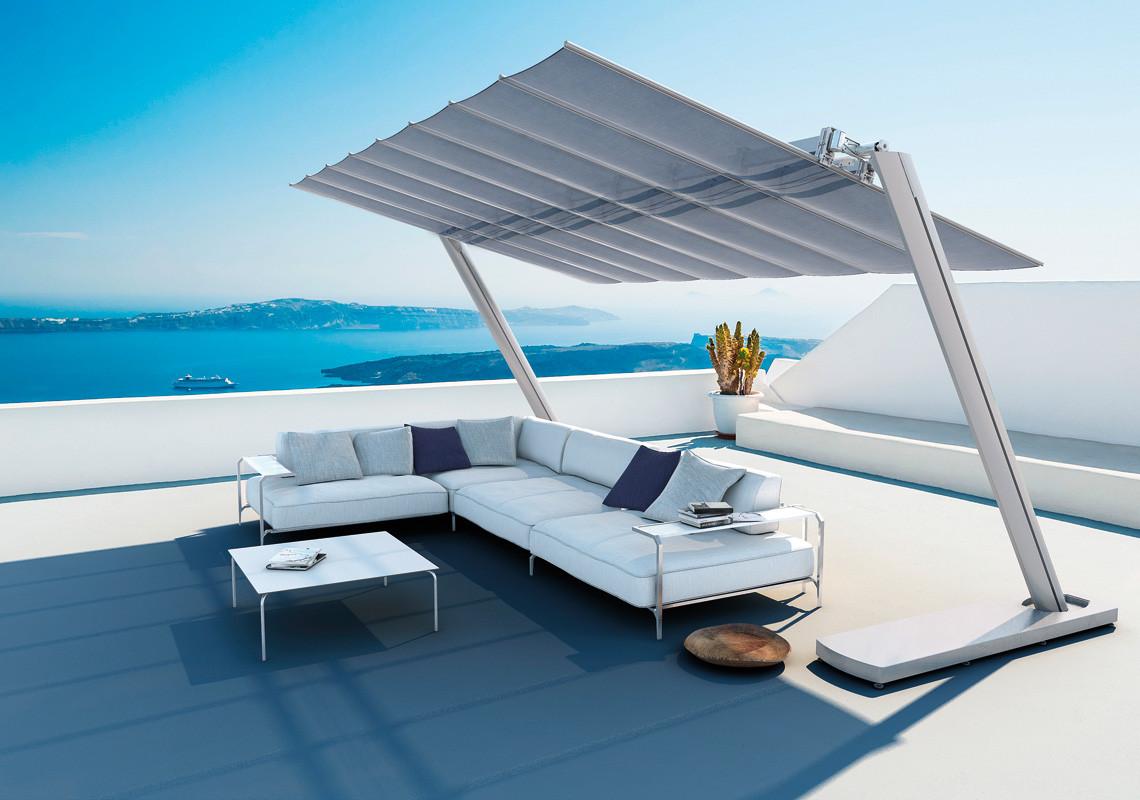 Sonnendächer und Fächer