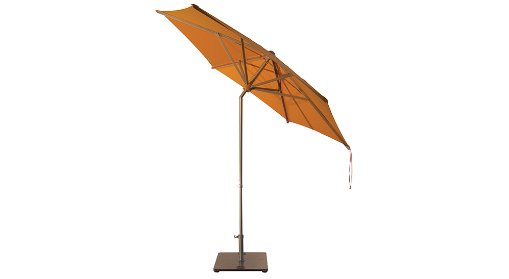 Mittelmast Sonnenschirm Onda rund 300 cm mit Kurbelbedienung Kranz aus Eiche  Bezug lt. Kollektion
